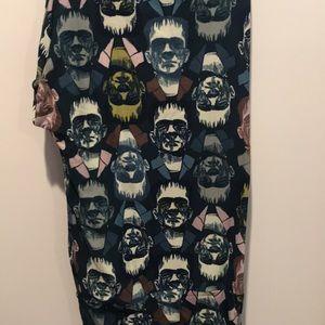 Frankenstein Halloween leggings